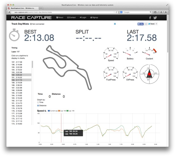 RaceCapture/Live - real time race car telemetry